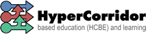 Hypercorridor based education (HCBE) and learning Sticky Logo